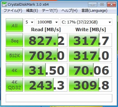 高速SSD 800MB/s超え
